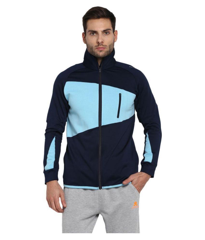 OFF LIMITS Navy Polyester Fleece Jacket