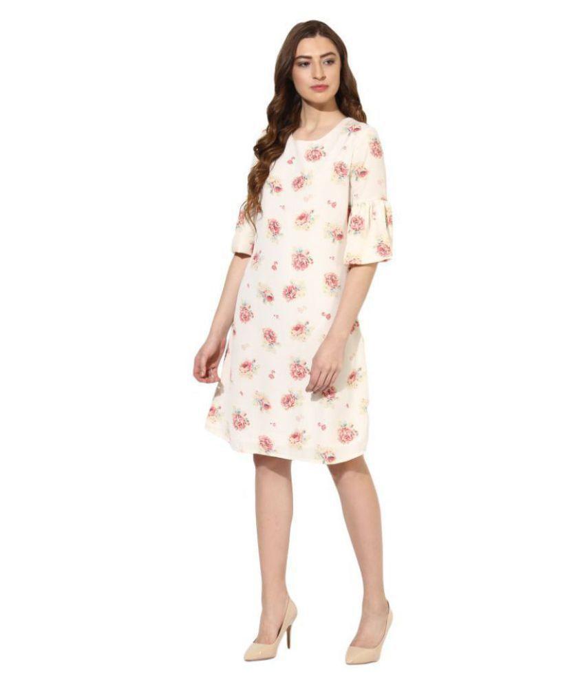 Color Cocktail Georgette Multi Color Regular Dress