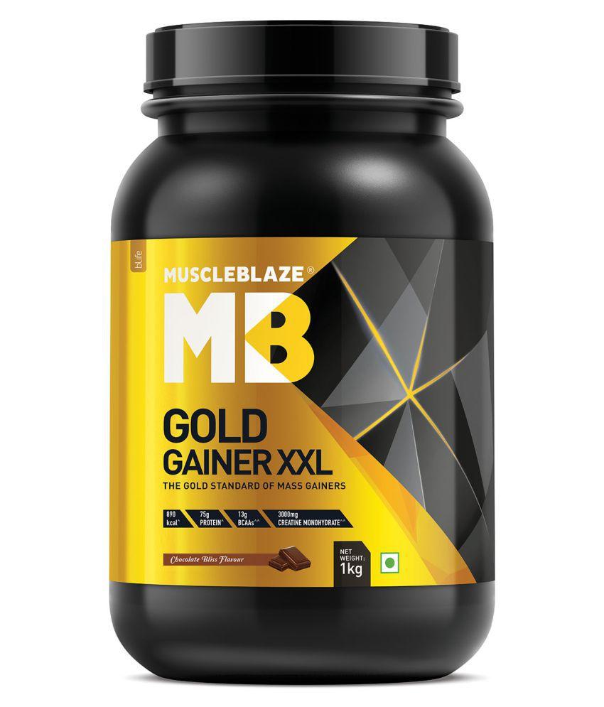MuscleBlaze Gold Gainer XXL 1 kg Weight Gainer Powder