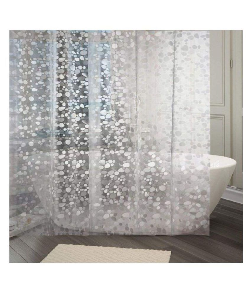 Khushi Creations Set of 2 Shower Curtain White Others