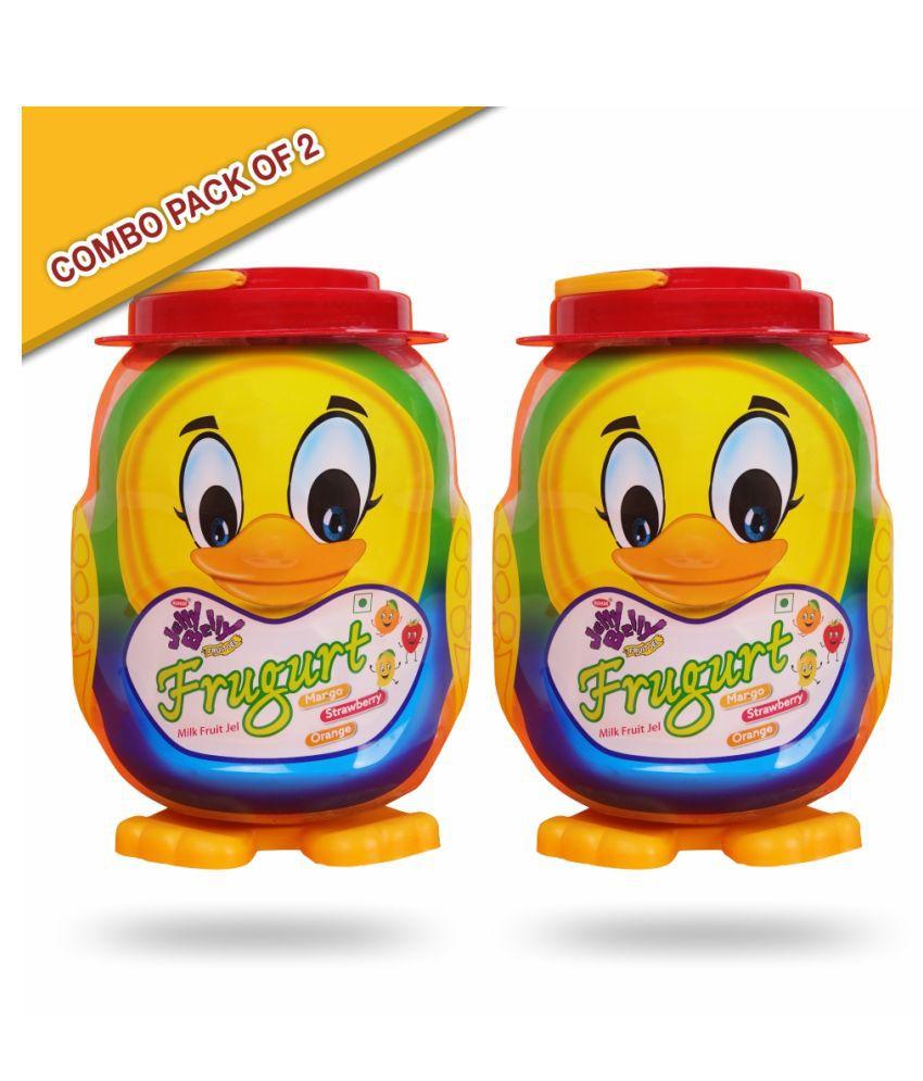 Mahak Duck Frugurt Milk Fruit Jelly Belly Toffees 2.2 kg Pack of 2