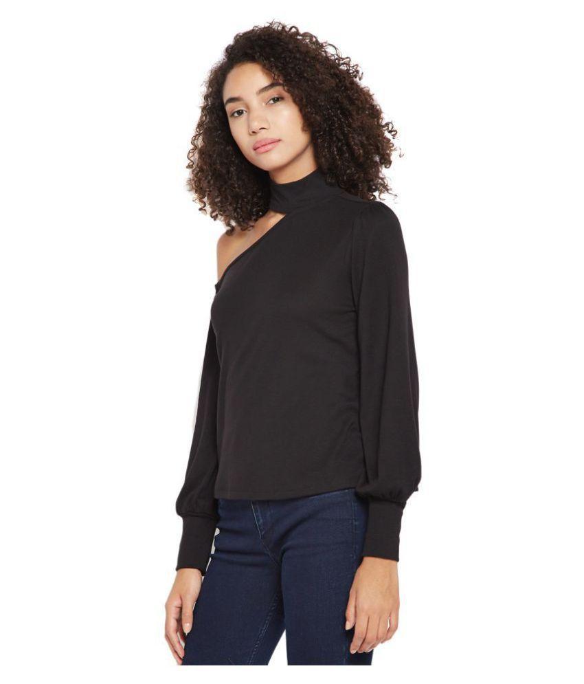 Femella Poly Cotton Regular Tops - Black - Buy Femella ...