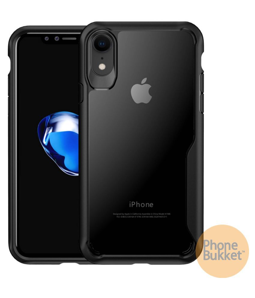 PhoneBukket Transparent Shockproof Bumper Cover Case for Apple iPhone XR