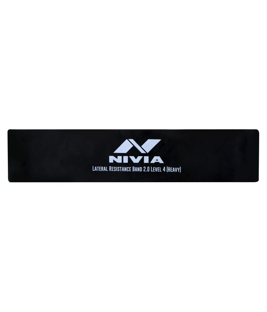 Nivia LATERAL RESISTANCE BAND 2.0 LEVEL 4  HEAVY  Resistance Tube  Black