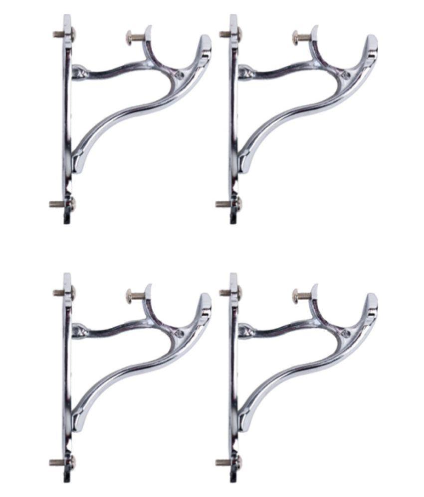 CasaGold Set of 4 Zinc Single Rod Bracket