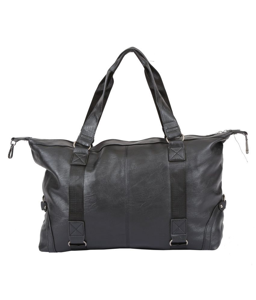 Shopizone Black Artificial Leather Shoulder Bag