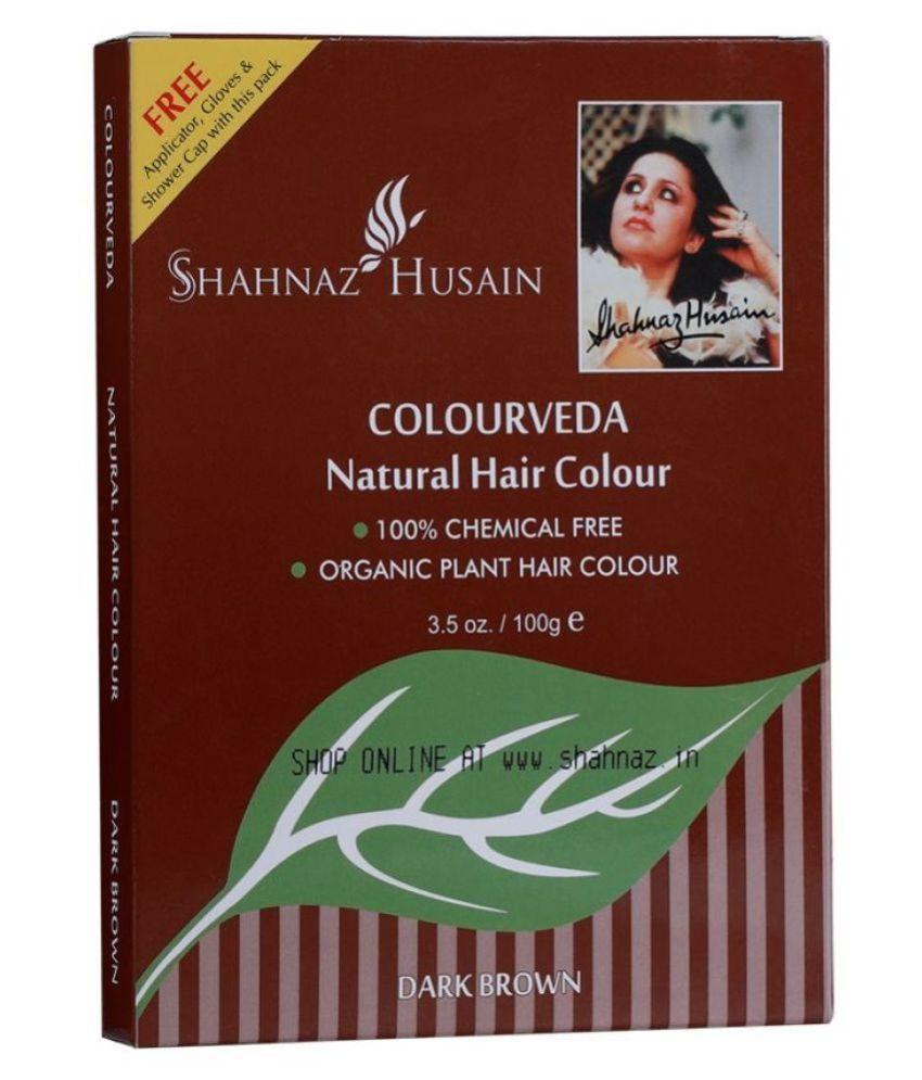 Shahnaz Husain Natural Hair Color 100% Chemical Free Henna Dark Brown 100 gm