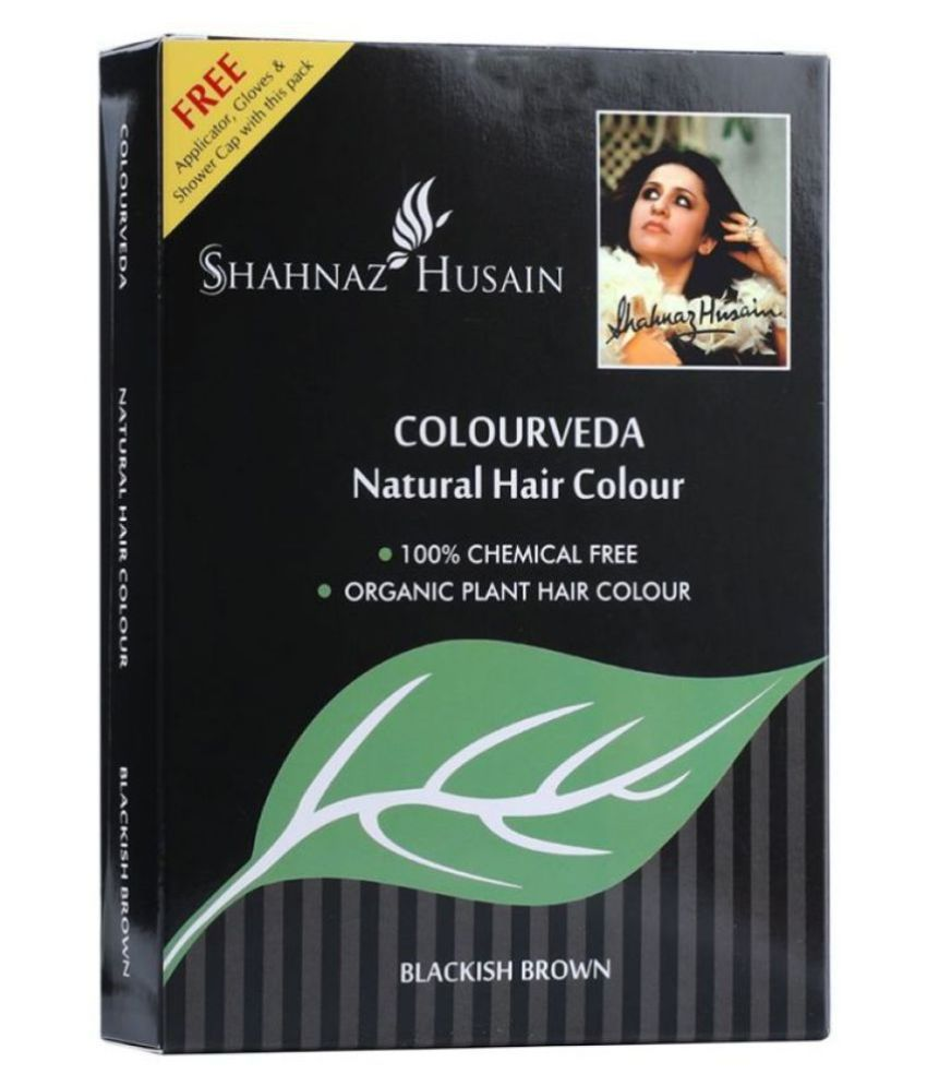 Shahnaz Husain Natural Hair Color 100% Chemical Free Henna Blackish Brown 100 gm