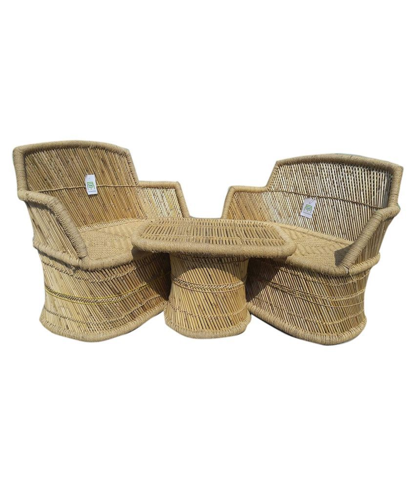Ecowoodies Bamboo Cane Cushioned Seating Furniture for ...