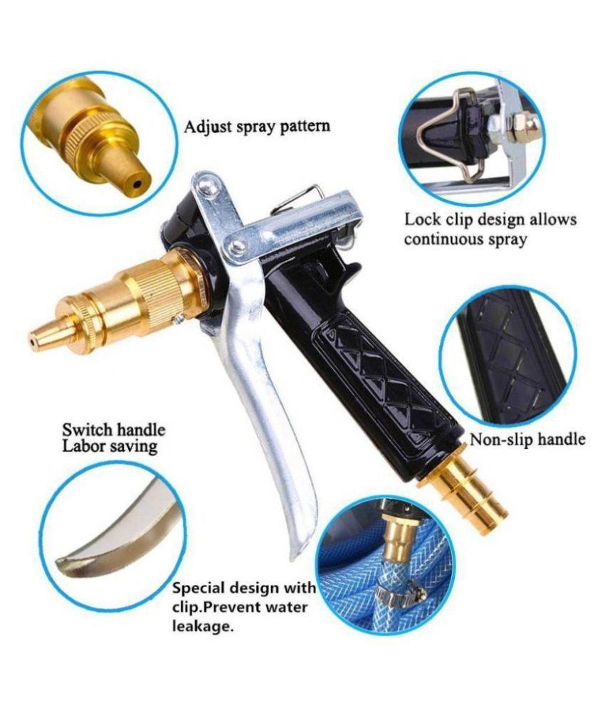 GOCART Blue Brass Nozzle WATER SPRAY GUN Car/Bike/Gardening Wash