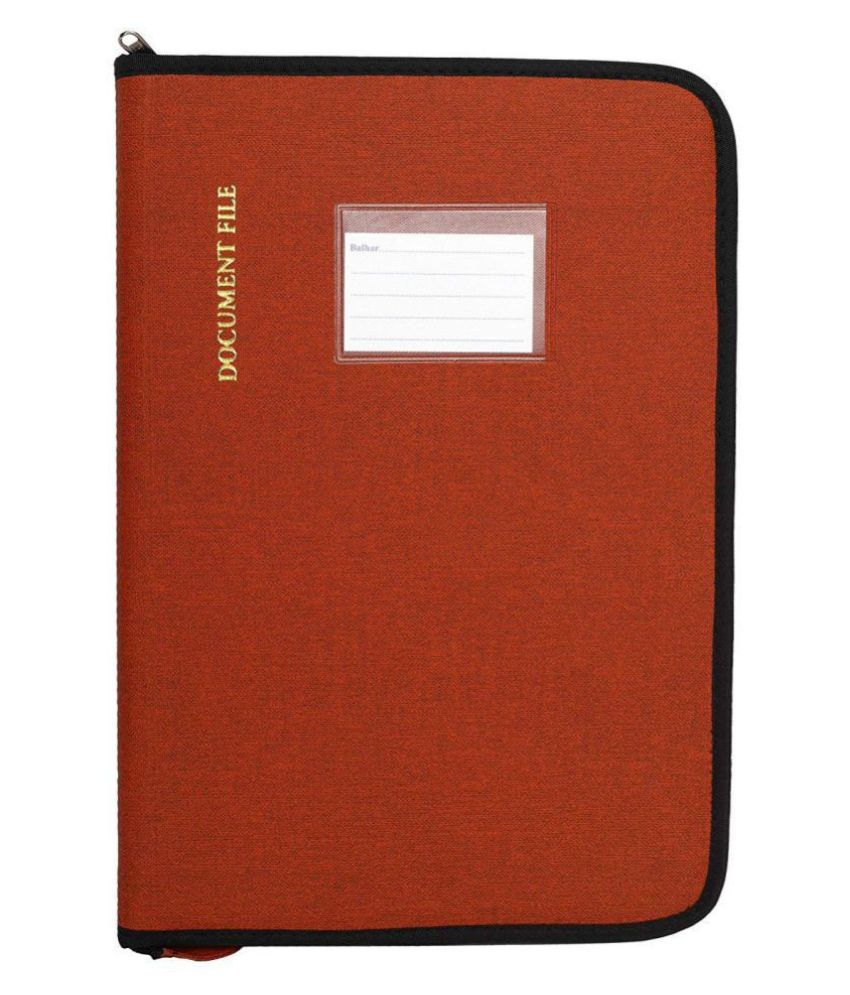 KolorFish Leatherette Material Professional Files and Folders, Certificate, Documents Holder (20 Leafs) (3110 Brown) Size - FS