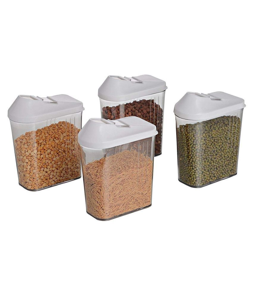 Teneza Easy Flow Kitchen Polyproplene Food Container Set of 4 1100 mL