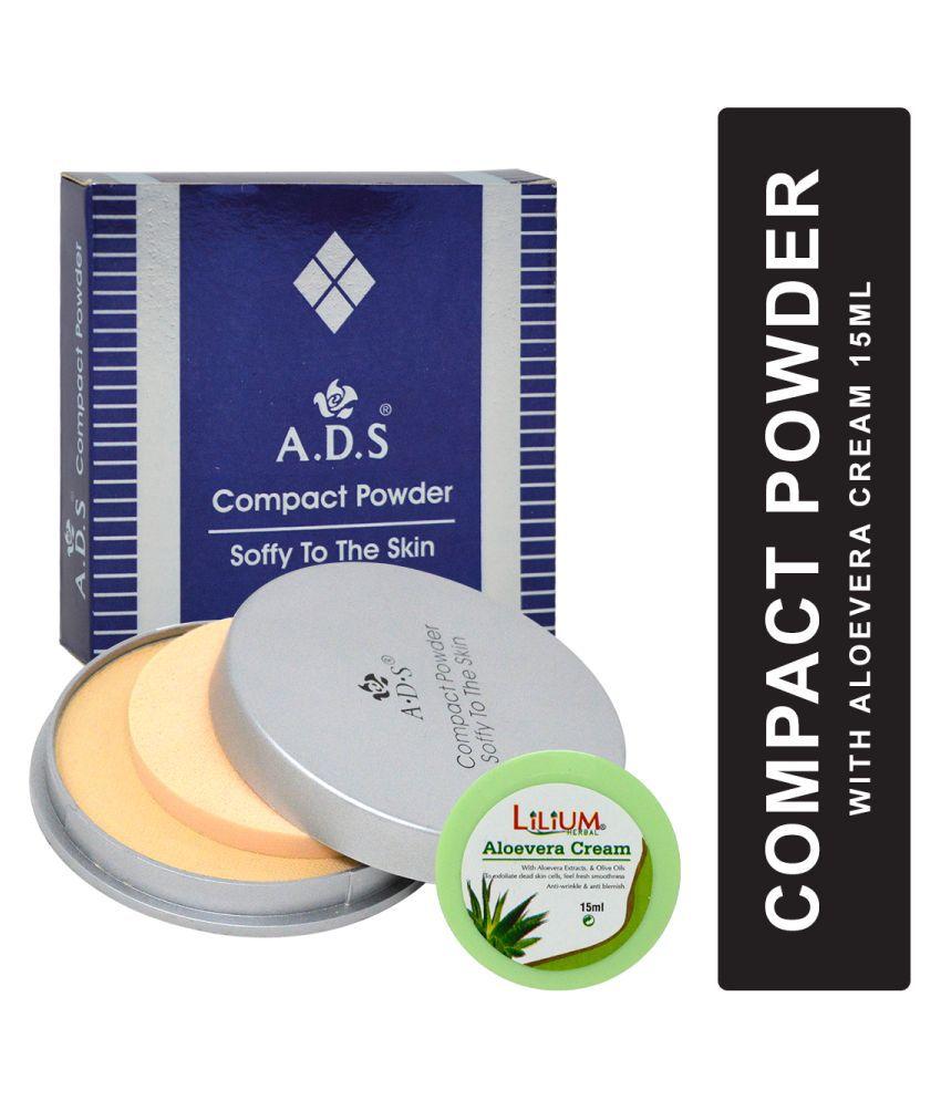 ADS Soft Skin Oil Free A1115 Pressed Powder With Aloevera Cream Medium 48 g