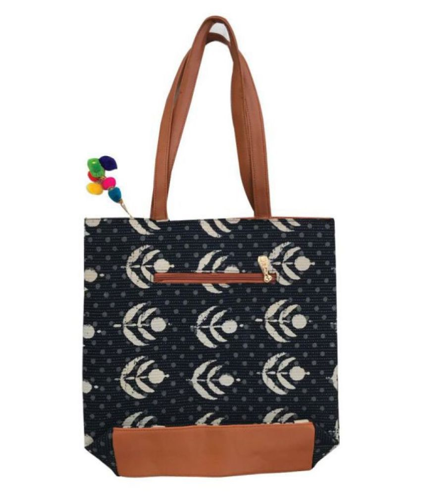 Craferia Export Black Cotton Shoulder Bag