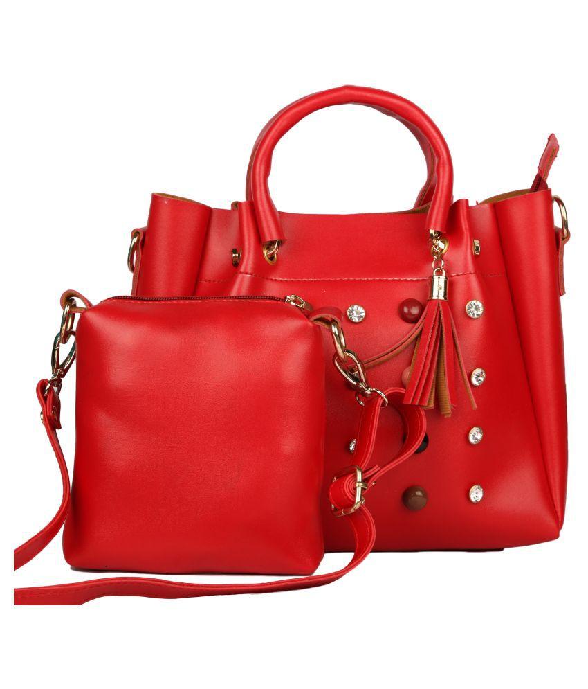 Fashion Gallery Red P.U. Sling Bag