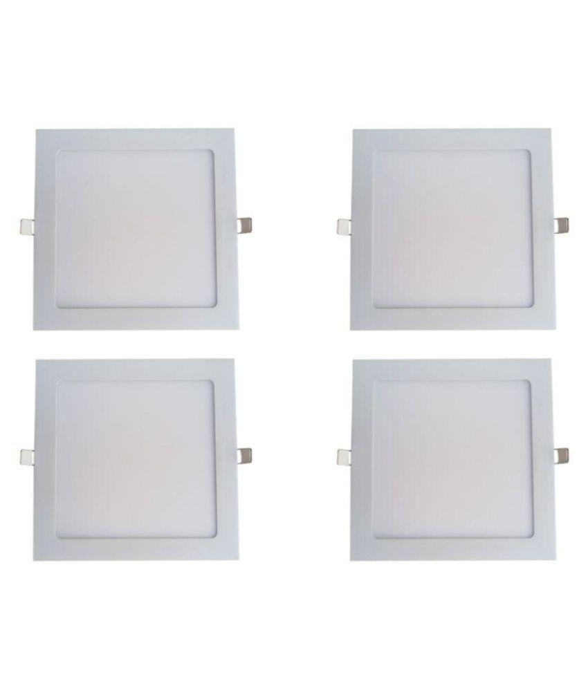 Bene 18W Square Ceiling Light 22 cms. - Pack of 4