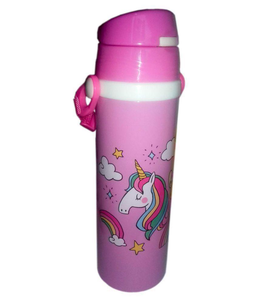 KIDOZ KINGDOM Unicorn Insulated Flask with Straw 500ML