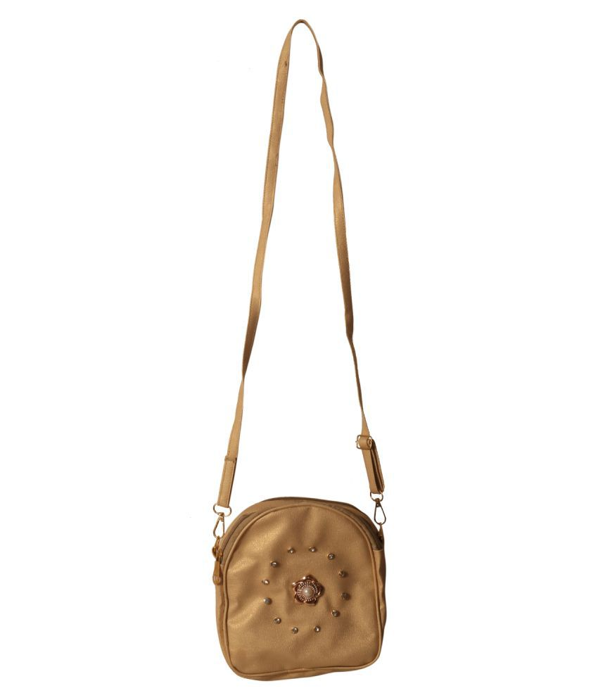 Meerwal Gold Canvas Cloth Shoulder Bag