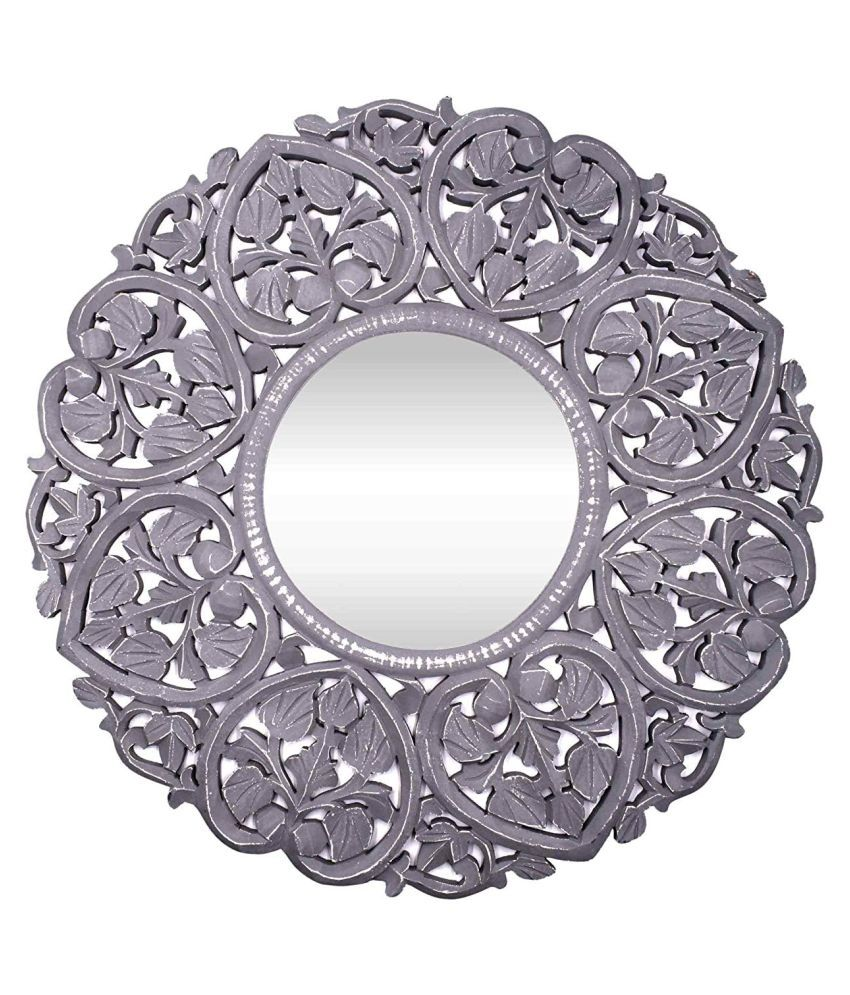 Gold Star Crafts Mirror Wall Mirror Gray ( 68 x 2 cms ) - Pack of 1