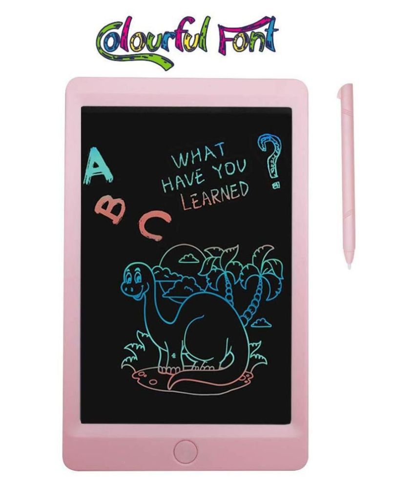 Darling Toys Colourful Font 8.5 Inch LCD Writing Tablets Doodle Board with Screen Lock Function, Drawing Pad for Kids/Adults
