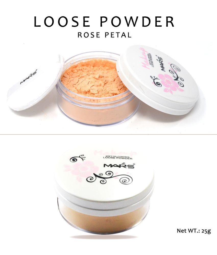 Mars Soft Oil Control-9245-2-02 Loose Powder & Free Adbeni Kajal Medium 25 g