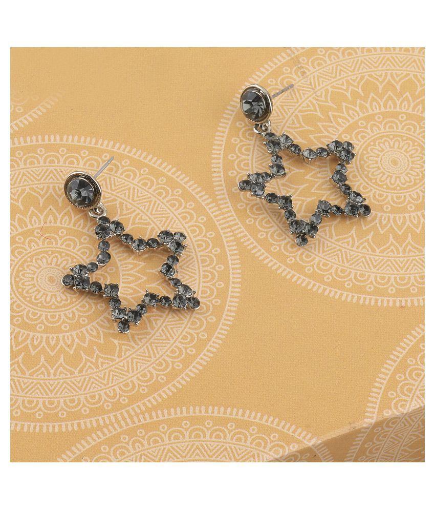 SILVER SHINE Charm Delicated Patry Wear Star Diamond Dangle Earring For Women Girl