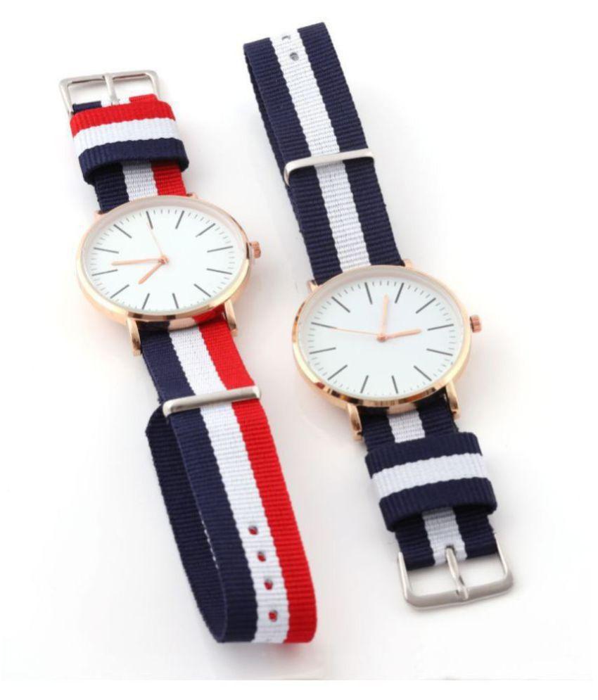 WD-COMBO Fabric Analog  Watch