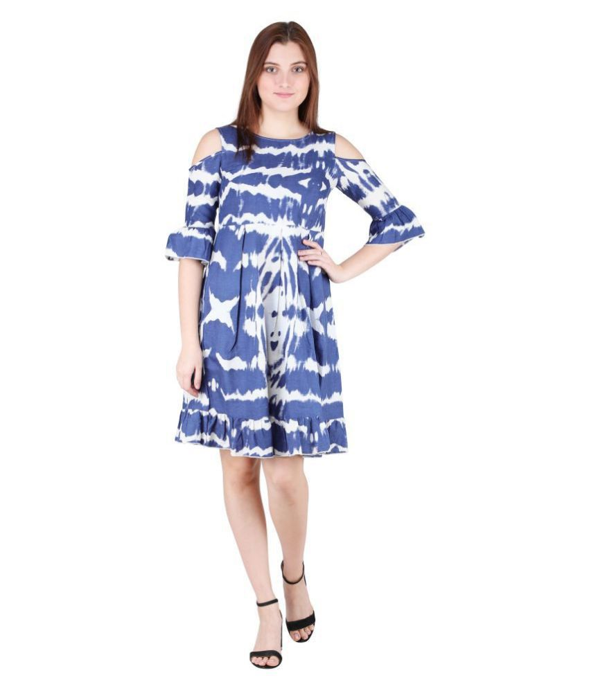 litlu Cotton Blue Regular Dress