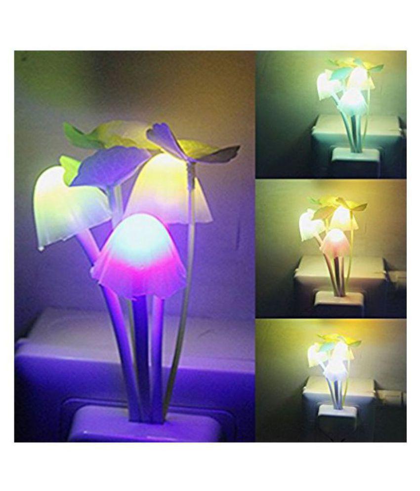 Everbuy Automatic Sensor Mushroom Decorative Light Night Lamp Multi Night Lamp Multi - Pack of 1