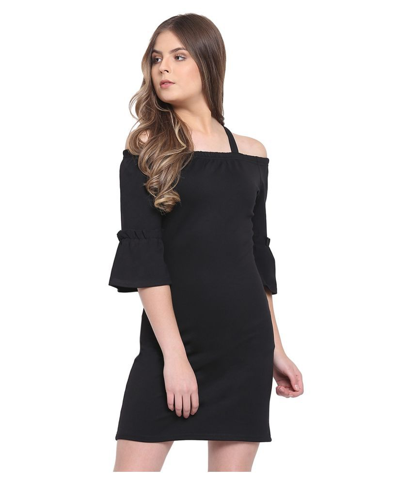 RIVI Cotton Black Regular Dress