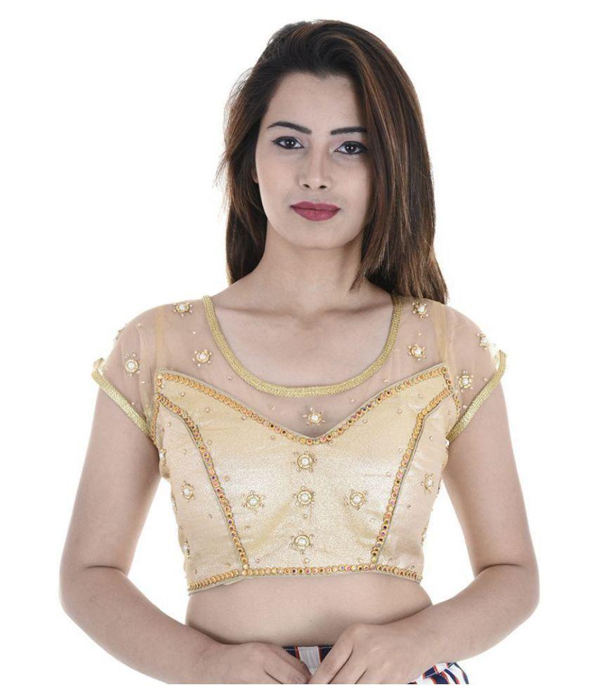 Raj Gold Silk Readymade with Pad Blouse