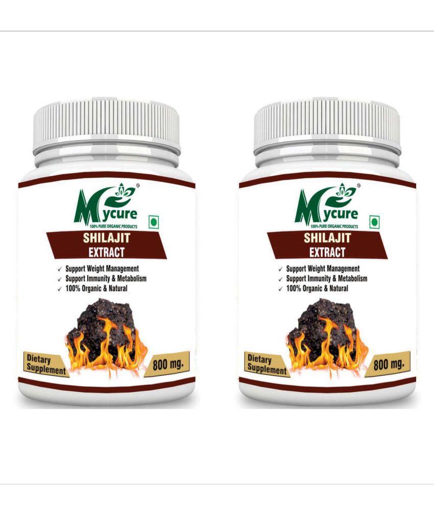 my cure PREMIUM QUALITY SHILAJIT 800 mg Pack of 2