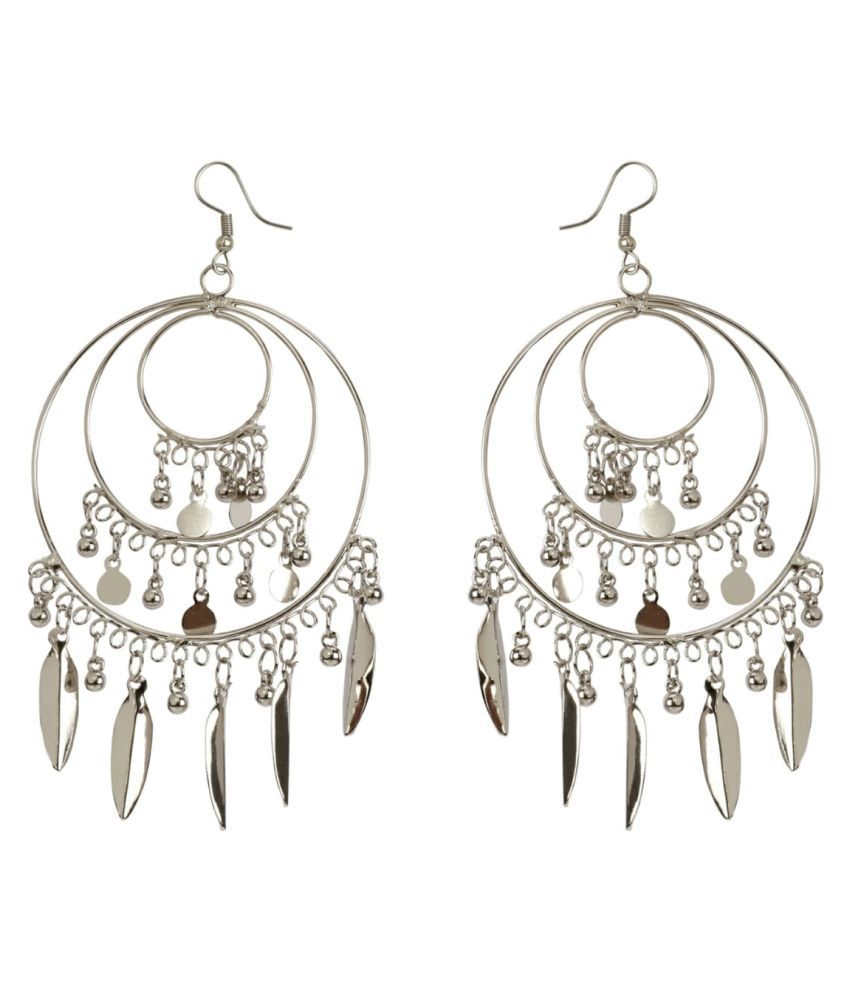 aliza collection's oxidised  fancy baali earings silver color earings for girls and women