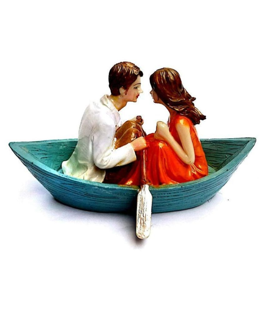 Krishnagallery Love Couple Statue For Gift showpiece Boat Couple Idol