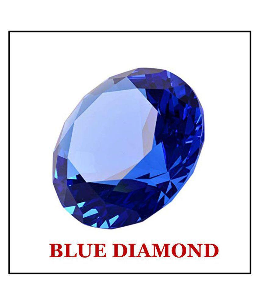 Maya Gems/Extra Fine Round-Blue American Diamond
