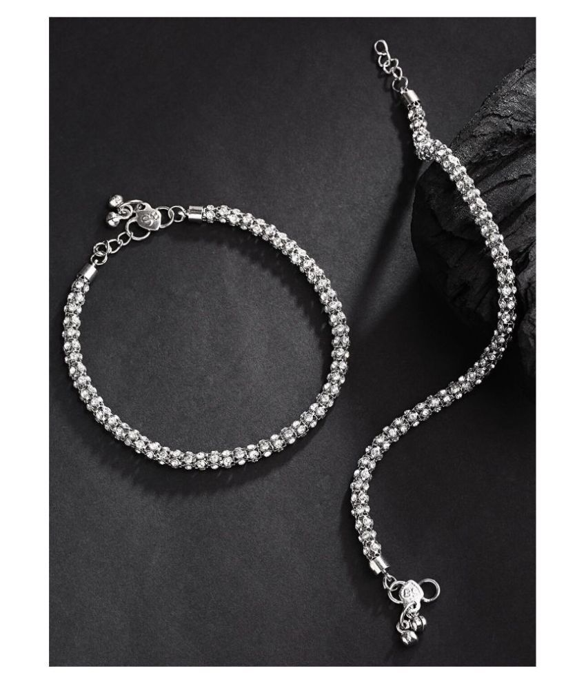 Priyaasi German Latest Design Silver Plated Anklet for Women