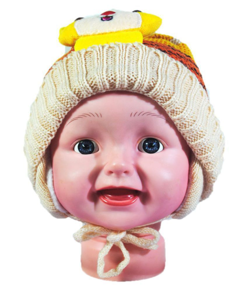 Kids Stylish Winter Cap/ Woollen Cap (Biege)