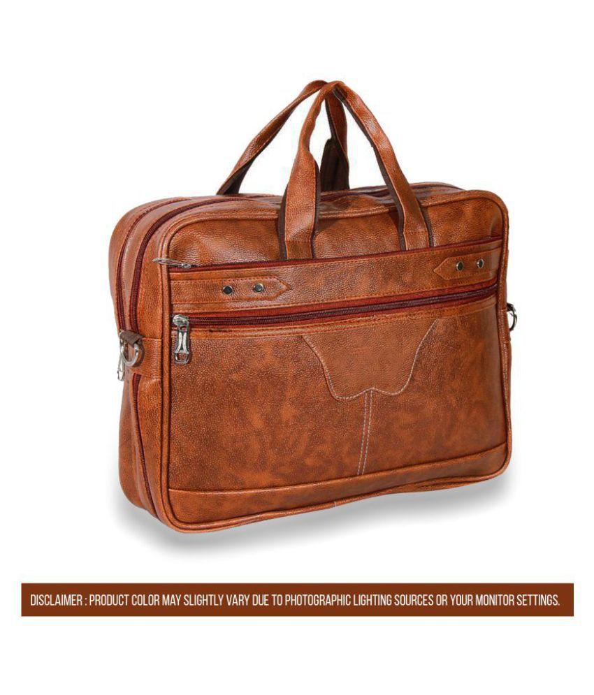 Cosykart Executive Style Tan P.U. Office Bag