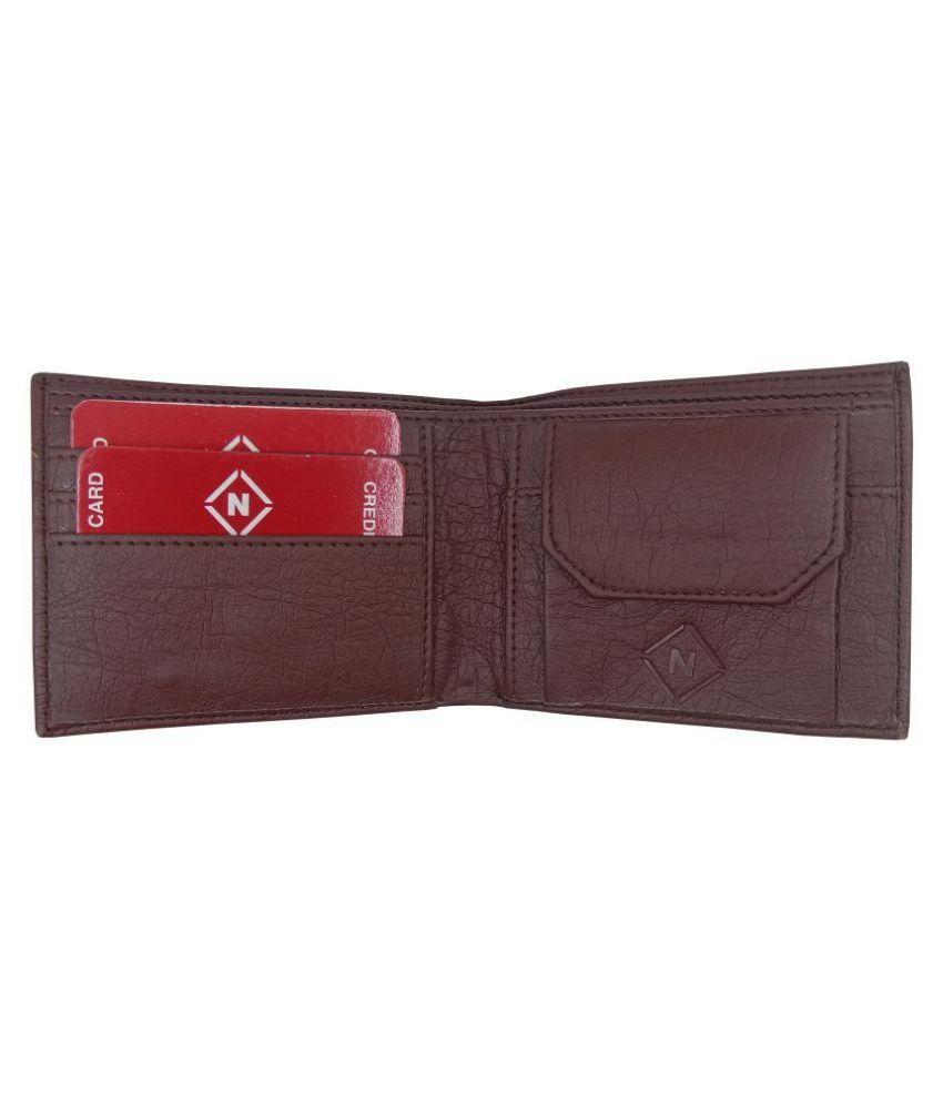 Nexa Fashion PU Brown Fashion Regular Wallet