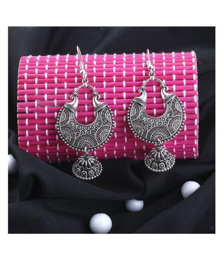 Silver Shine Charming Silver Fish Hook Earrings for Women