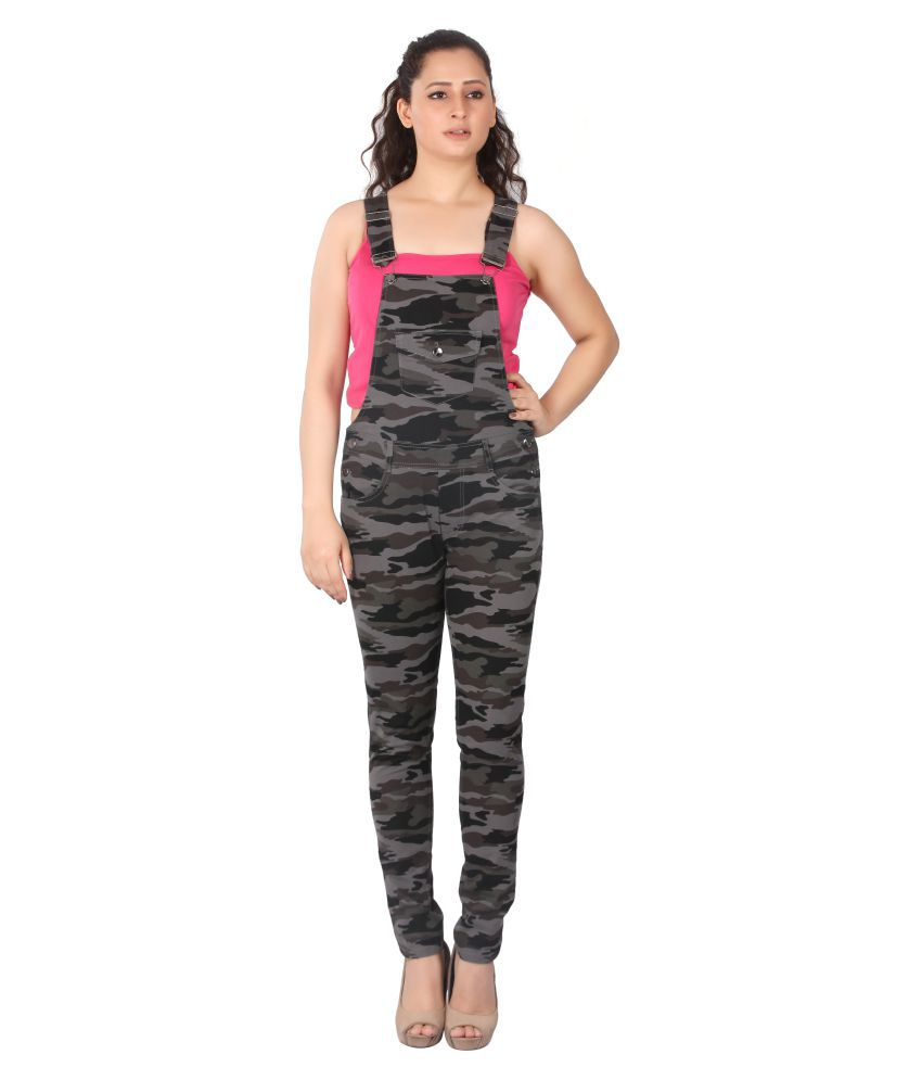 FCK-3 Multi Color Denim Jumpsuit