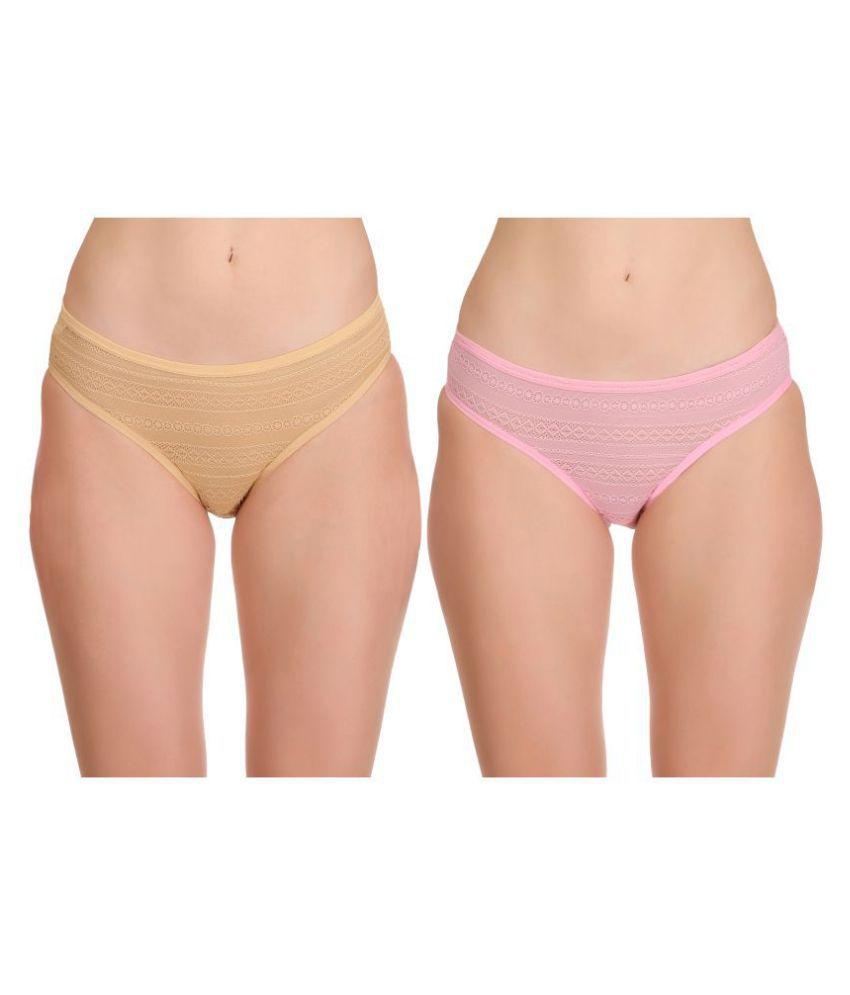 Selfcare Net/Mesh Bikini Panties