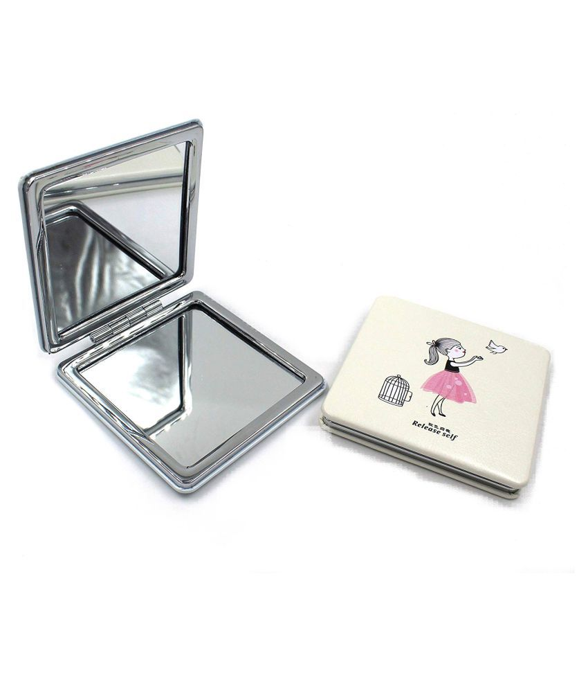 TopNotch Dual Sided Square Compact Mirror 2x
