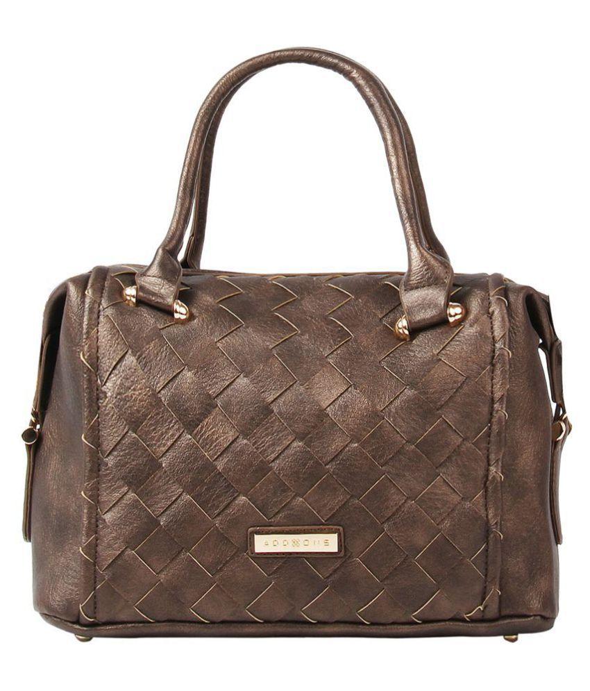 Addons Brown P.U. Shoulder Bag