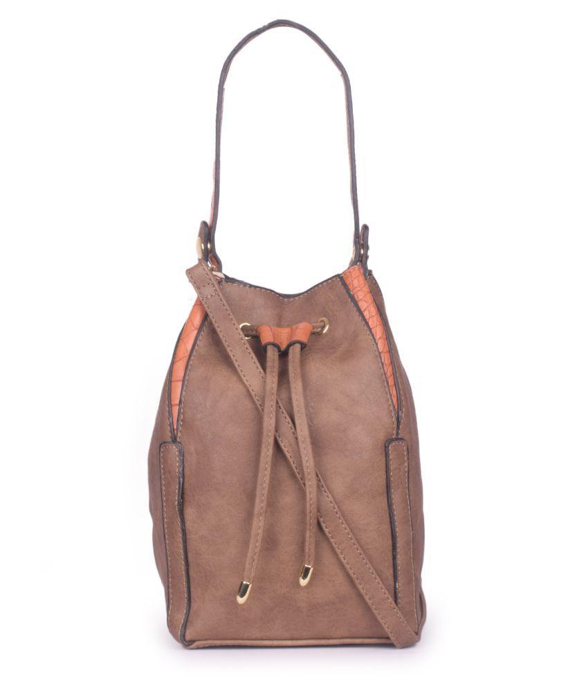 Bagkok Brown P.U. Sling Bag