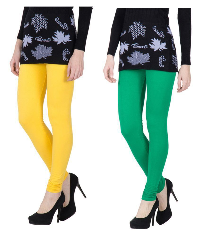 MONATI Cotton Lycra Pack of 2 Leggings