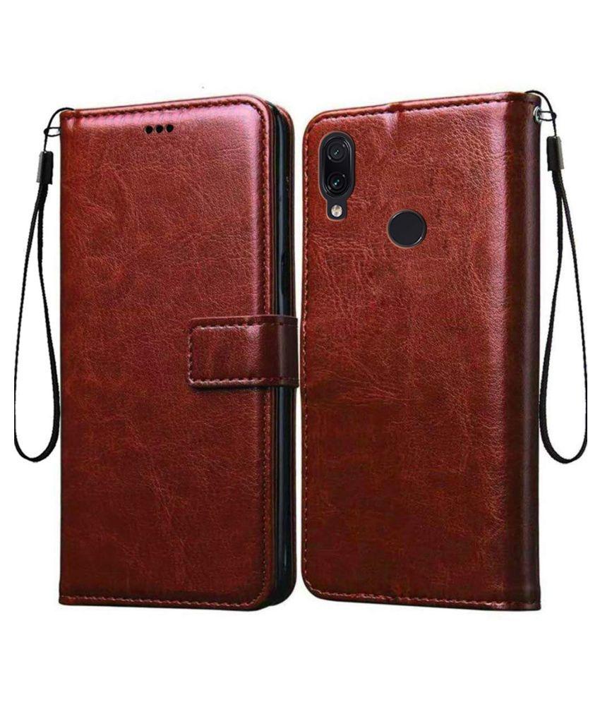 Xiaomi Redmi Y3 Flip Cover by Lenis - Brown