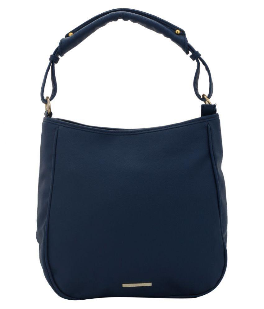 Lapis O Lupo Blue Faux Leather Shoulder Bag