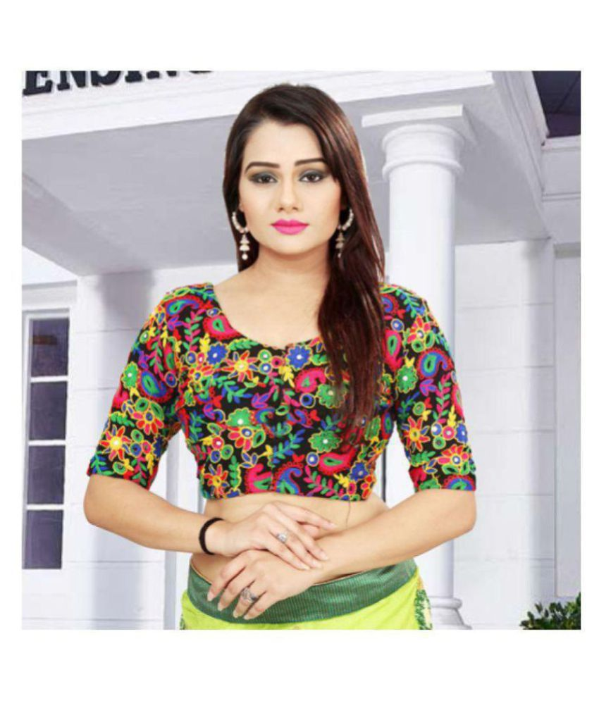 ARSH IMPEX Multicoloured Georgette Unstitched Blouse