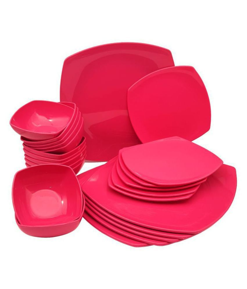 Homray Opulence Plastic Dinner Set of 24 Pieces